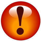 Exclamation mark icon Royalty Free Stock Photography