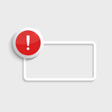 Exclamation mark icon. Royalty Free Stock Images
