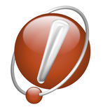 Exclamation mark icon button attention important Royalty Free Stock Images