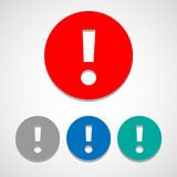 Exclamation mark icon great for any use. Vector EPS10. Royalty Free Stock Photo
