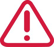 Free Exclamation Mark In Red Warning Sign Royalty Free Stock Images - 107204119