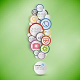 Exclamation mark. Infographic with colored circles Royalty Free Stock Photos
