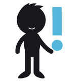 Exclamation mark. Infographic people - with exclamation mark Stock Image