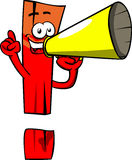 Exclamation mark with megaphone Royalty Free Stock Images
