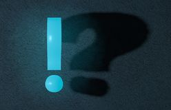 Exclamation mark and question mark Stock Image
