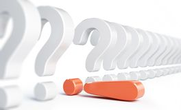 Exclamation mark and question mark Stock Photo