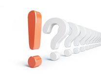 Exclamation mark and question mark Stock Photos