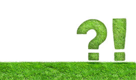Exclamation mark and question mark Stock Images