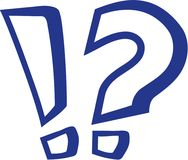 Exclamation mark and question mark outline. Vector Royalty Free Stock Photos