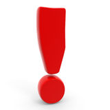 Exclamation mark. Royalty Free Stock Photography