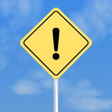 Exclamation mark sign Royalty Free Stock Photos