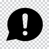Exclamation mark in speech bubble. Warning or attention sign. Vector illustration vector illustration
