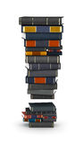 Exclamation mark , stacked from books Stock Images
