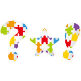 Exclamation mark, star, question Royalty Free Stock Image
