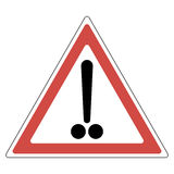Exclamation mark with two points Royalty Free Stock Images