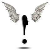 Exclamation Mark Wings Image stock