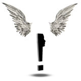 Exclamation Mark Wings Royalty Free Stock Image