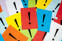 Exclamation marks Royalty Free Stock Photo