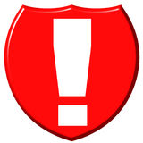 Exclamation Point Shield royalty free illustration