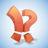 Exclamation point vs question mark Stock Photography