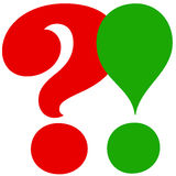 Exclamation and question Stock Photography