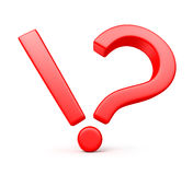 Exclamation-Question mark Royalty Free Stock Images