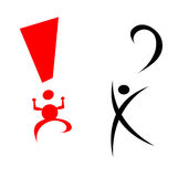 Exclamation and question mark Stock Image