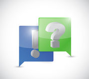 Exclamation and question mark communication Stock Photography