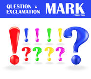 Exclamation and question mark isolated on white Royalty Free Stock Photo