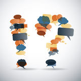 Exclamation and Question Mark Made from Speech Bubbles Royalty Free Stock Photo