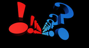 Exclamation and Question marks Royalty Free Stock Images