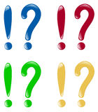 Exclamation and question marks Royalty Free Stock Photo