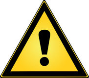 Exclamation Sign. Exclamatio Triangle Sign for Warning Stock Photo