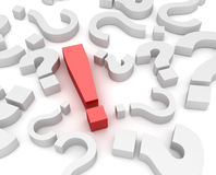 Exclamation sign and question mark Stock Photo
