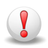 Exclamation symbol On Ball Royalty Free Stock Photography
