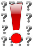 Exclamation vs question-mark Stock Photography