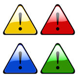 Exclamation warning signs Royalty Free Stock Image