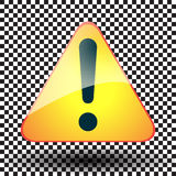 Exclamation yellow sign triangular Royalty Free Stock Photo