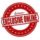 Excliusive on line. Stamp with text exclusive on line inside,  ilustration Stock Images