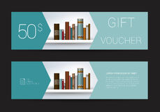 Excllusive Book store gift voucher template. Simply  modern design. Royalty Free Stock Image