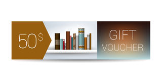 Excllusive Book store gift voucher template. Simply  modern design. Royalty Free Stock Photo