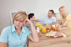 Excluded from the family circle Stock Images