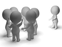 Free Excluded From Group 3d Character Shows Bullying Royalty Free Stock Photos - 32075478