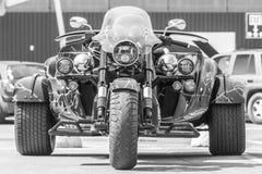 Exclusief algemeen vooraanzicht met drie wielen stock fotografie