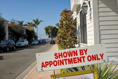 Exclusief bezit voor verkoop in New Port Beach royalty-vrije stock foto