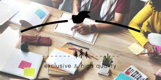 Exclusief en Hoog - het Exemplaar Ruimteconcept van Markeing van het kwaliteitsmerk stock fotografie