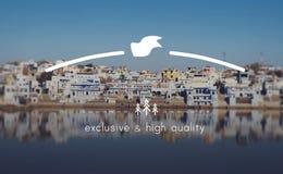 Exclusief en Hoog - kwaliteitsmerk Marketing Exemplaar Ruimteconcept royalty-vrije stock afbeeldingen