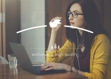 Exclusief en Hoog - kwaliteitsmerk Marketing Exemplaar Ruimteconcept stock afbeelding