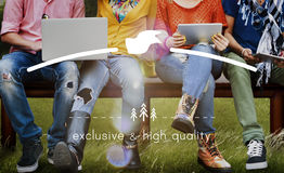 Exclusief en Hoog - kwaliteitsmerk Marketing Exemplaar Ruimteconcept royalty-vrije stock fotografie