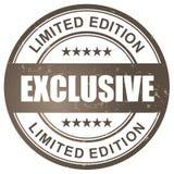 Exclusieve beperkte uitgavenzegel Royalty-vrije Stock Afbeelding